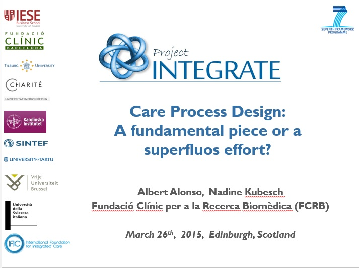 Care process design: A fundamental piece or a superfluos effort?