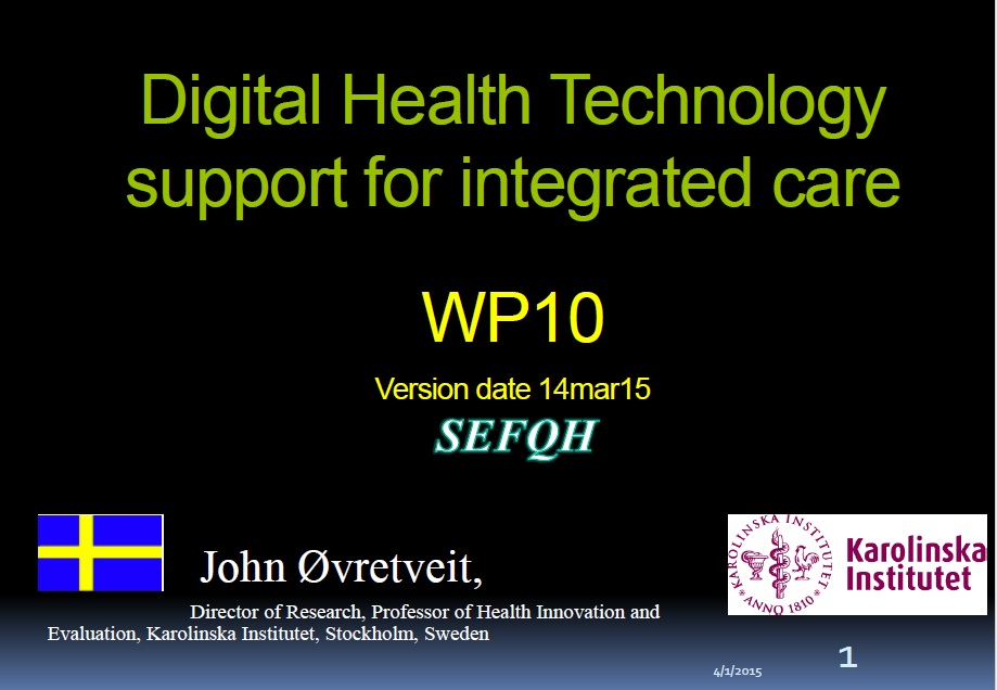 Digital health technology support for Integrated Care