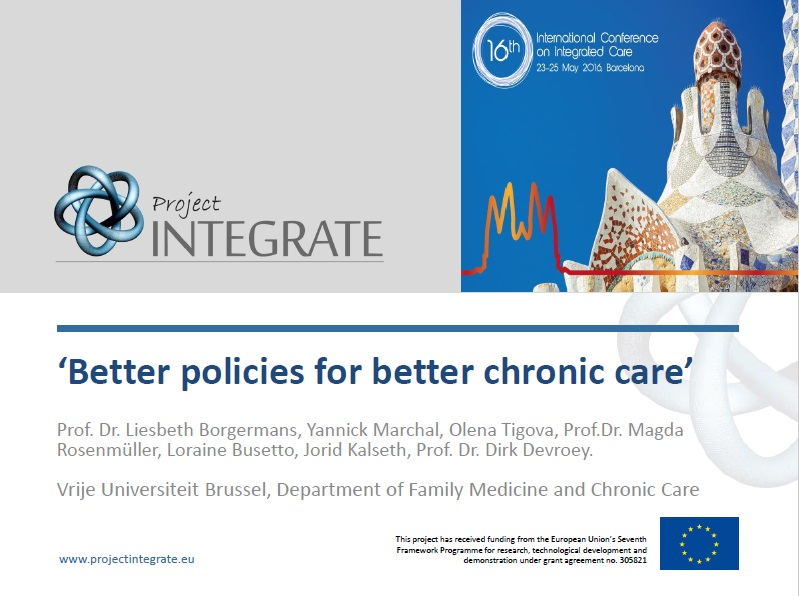 Better policies for better chronic care