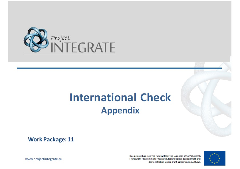 International Check – Conceptual Framework and Comparative Assessment Exercise (appendix)