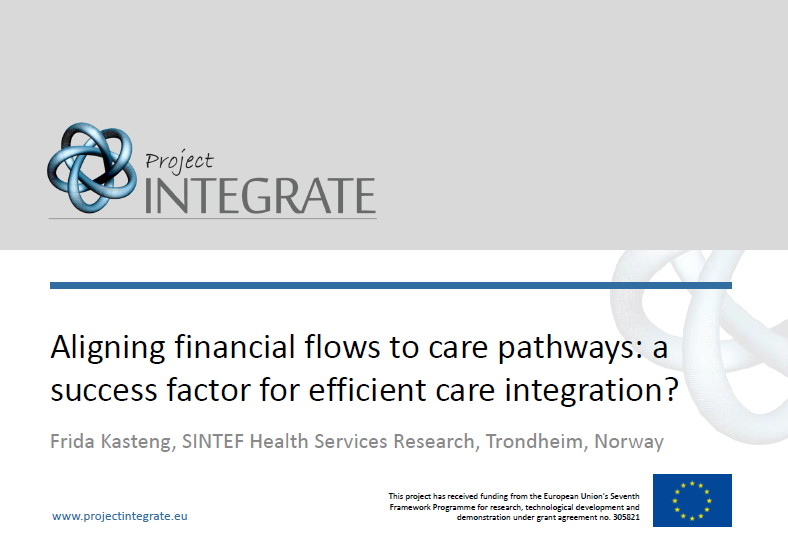 Aligning financial flows to care pathways