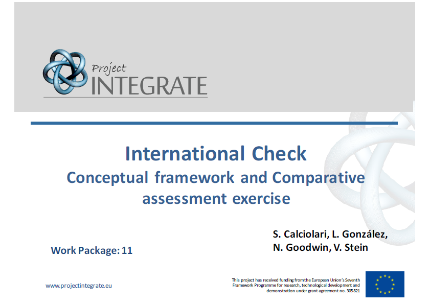 International Check – Conceptual Framework and Comparative Assessment Exercise (Main Slides)