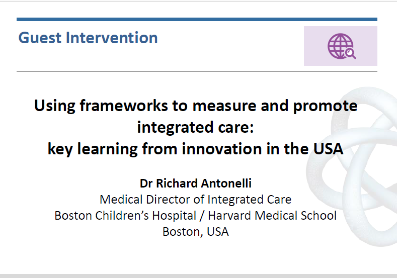 Using frameworks to measure and promote integrated care – key lessons from the USA